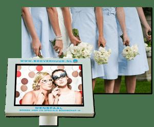 Huur videozuil Bruiloft Huwelijk Trouwfeest Gratis verzending Huureenvideozuil.nl